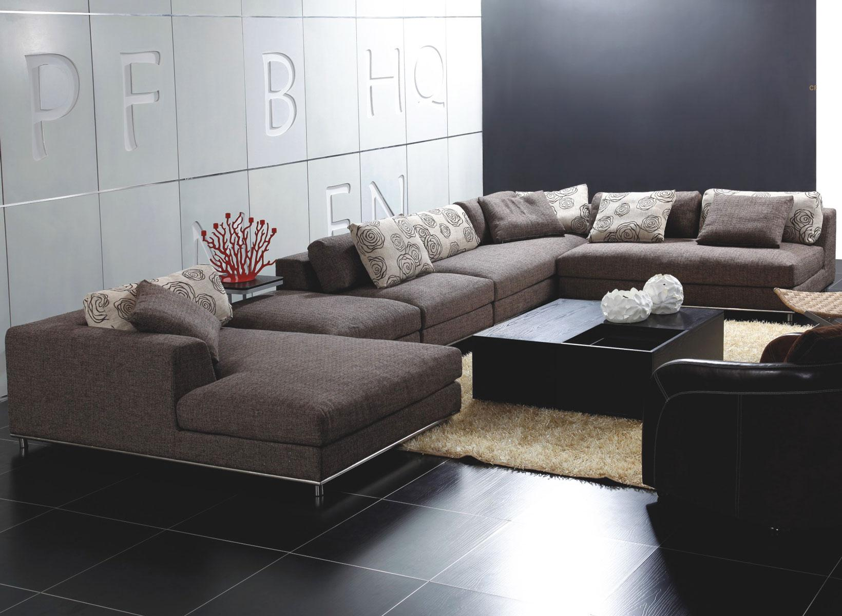 Creative Design Sofas And Sectionals With Cushion And Laminate Flooring For Living Room Ideas