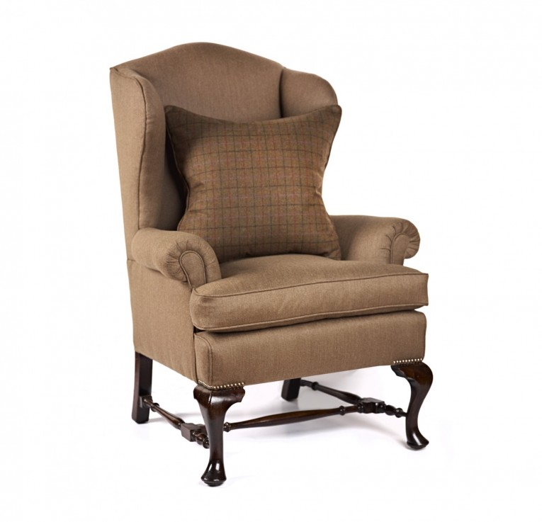 Cute Wing Back Chair With Solid Strong Wood Furniture Design For Dining Chair And Living Room Chair Ideas