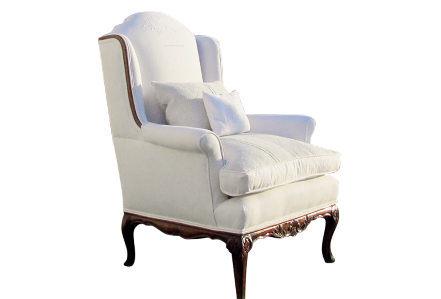 Dazzling wing back chair with Solid Strong wood Furniture Design for Dining chair and Living Room Chair Ideas