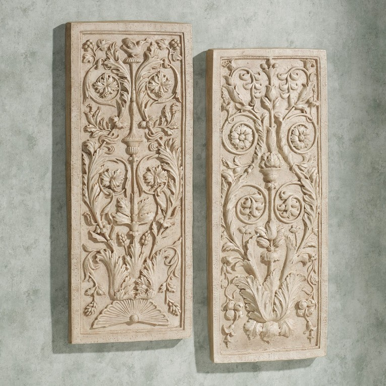 Elegant Wall Plaques With Antique Pattern Design For Wall Decorating Home Ideas