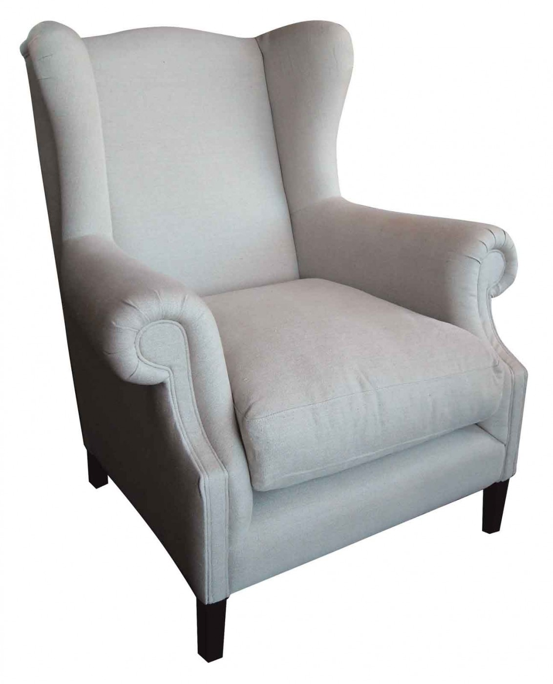 Elegant wing back chair with Solid Strong wood Furniture Design for Dining chair and Living Room Chair Ideas