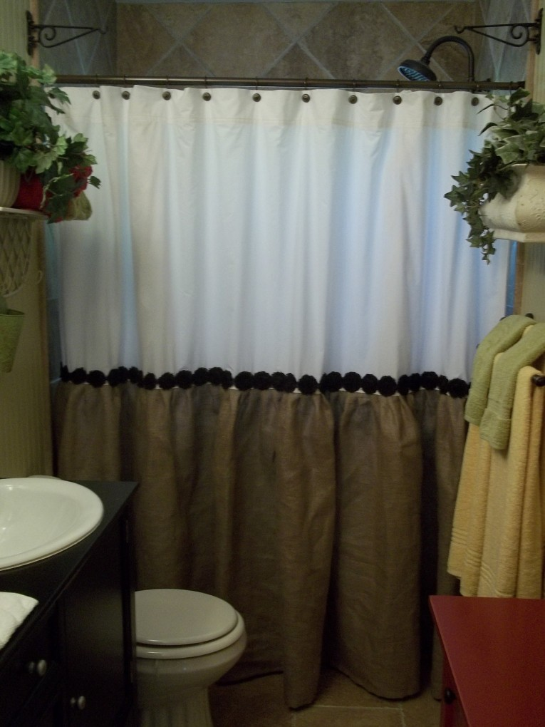Enchanting Design Color Bathroom With Burlap Shower Curtain For Make Your Bathroom Interior More Awesome