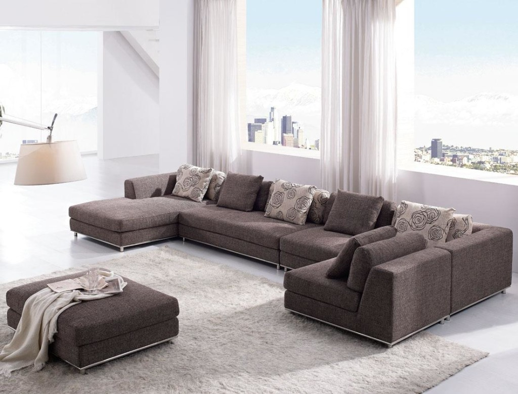 Mesmerizing Sofas and Sectionals for Living Room Furniture Ideas: Enchanting Design Sofas And Sectionals With Cushion And Laminate Flooring For Living Room Ideas