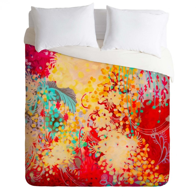 Enchanting Queen And King Bed Size Bohemian Duvet Covers With Unique Pattern For Bed Room Furniture Ideas