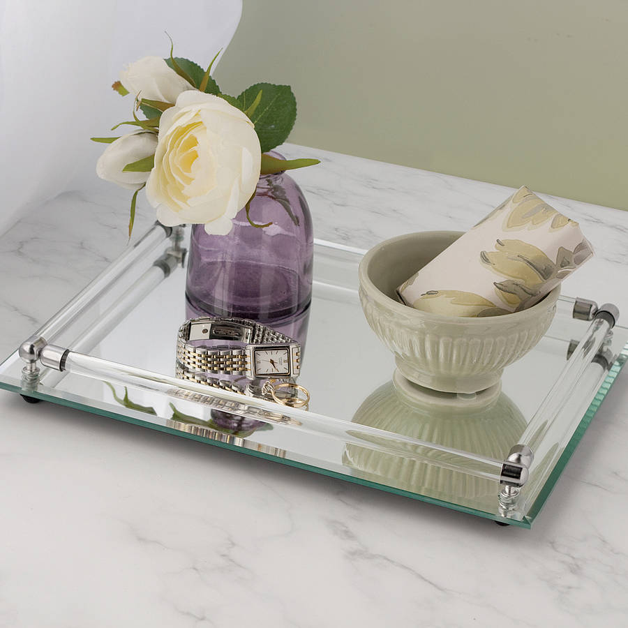 Endearing design mirror tray with modern design