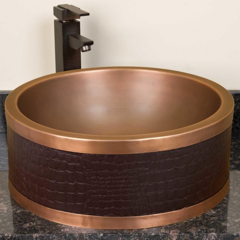 Engaging Copper Vessel Sinks With Towel And Faucets Plus Wastafel For Bathroom Ideas