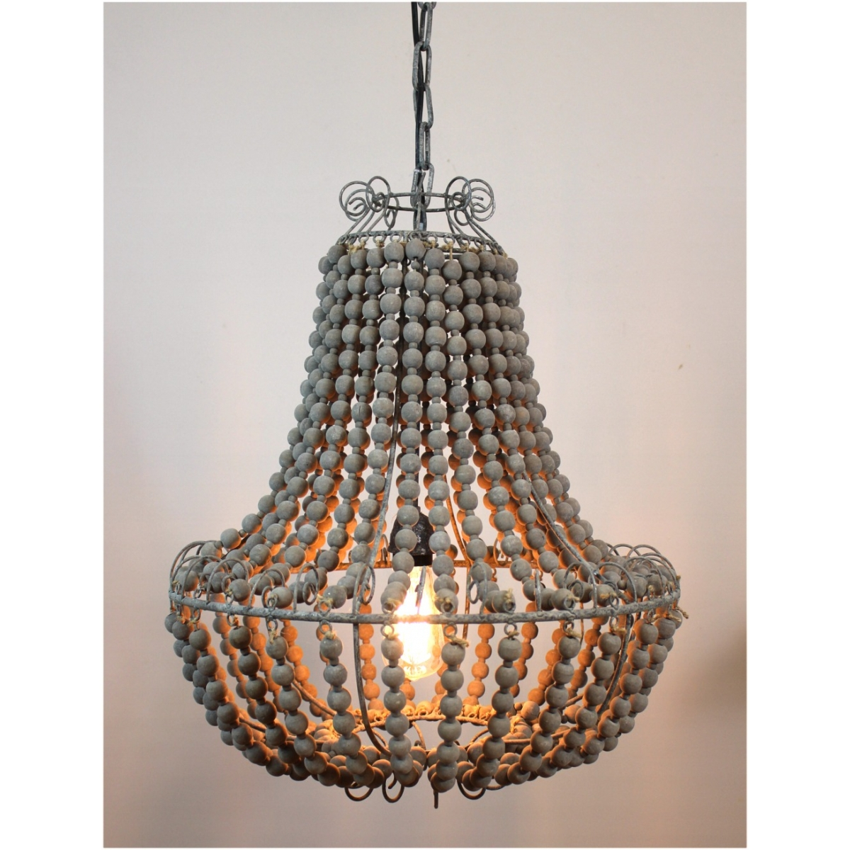 Wood Beaded Chandelier has one of the best kind of other is Beaded Chandelier Wooden  - Elegant Chandeliers