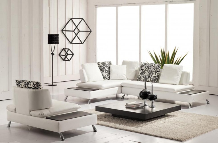 Enticing White Fur Rug With Best Wooden Laminate Flooring And Sofa Chairs For Living Room Ideas