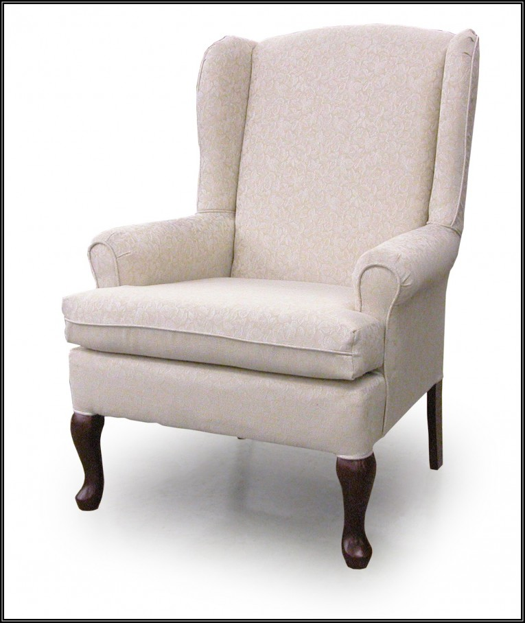 Entrancing Wing Back Chair With Solid Strong Wood Furniture Design For Dining Chair And Living Room Chair Ideas