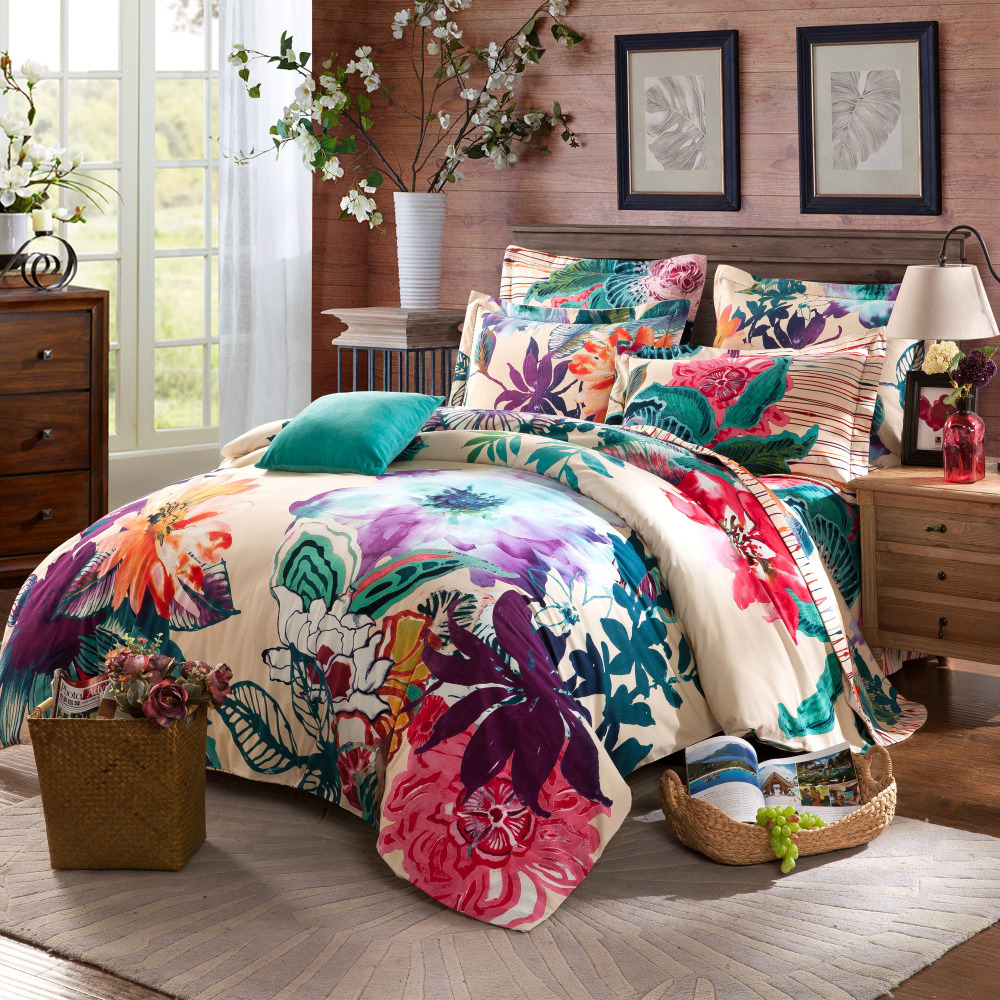 Exciting Queen and King Bed size bohemian duvet covers with unique pattern for Bed room Furniture Ideas