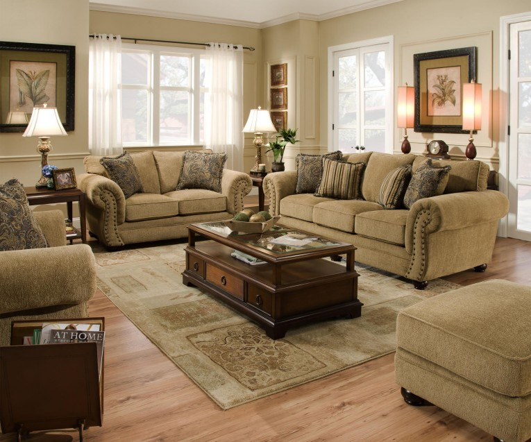 United Furniture Industries 4277 Traditional Sofa With Rolled Arms 2464 X 2053