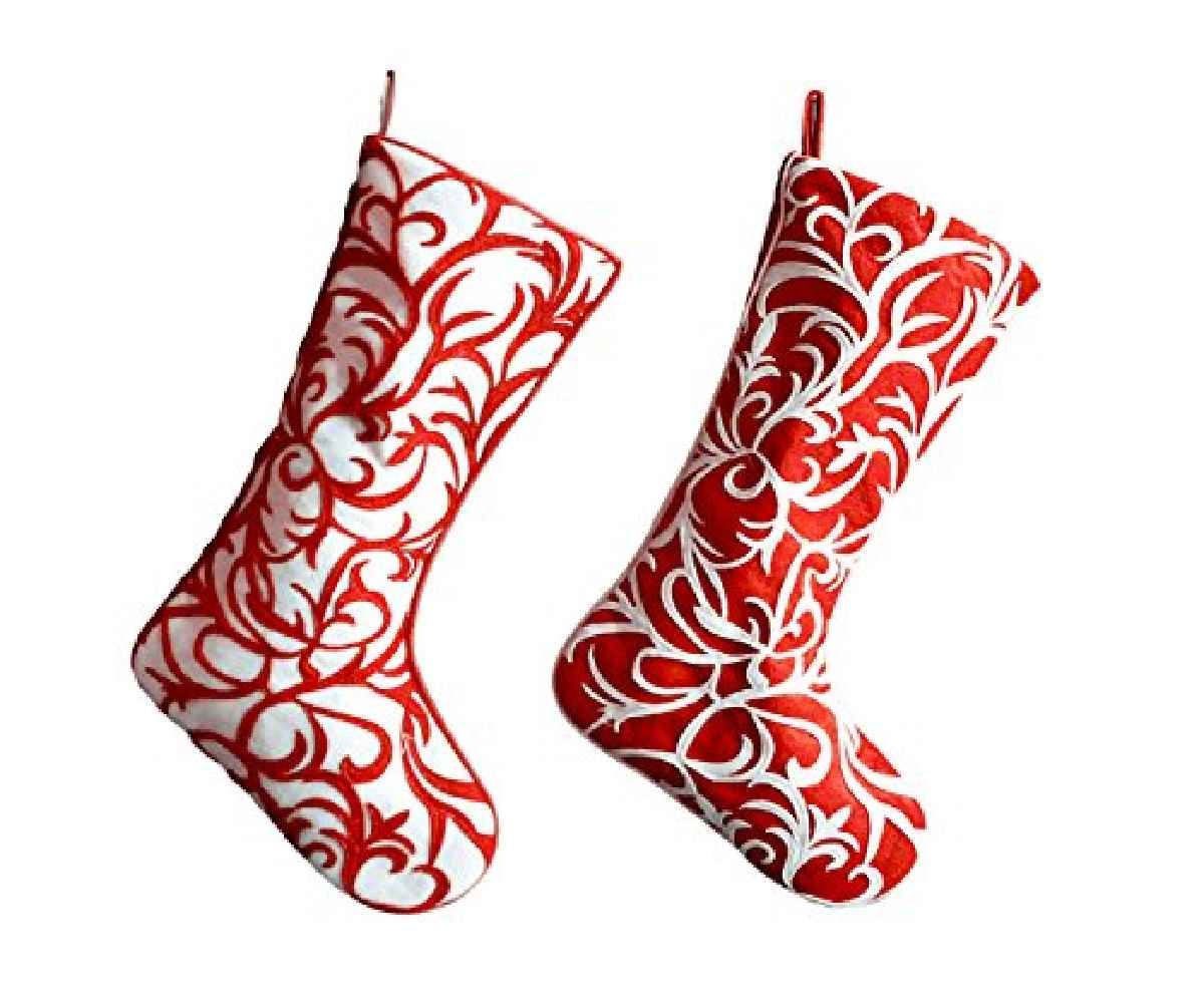 Fascinating design monogrammed stockings in the christmas display for living room ideas