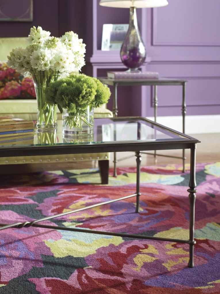 Flowers Coffee Table Combine Decorative Design Company C Rugs With Harmony Colors For Indoor Or Outdoor Ideas