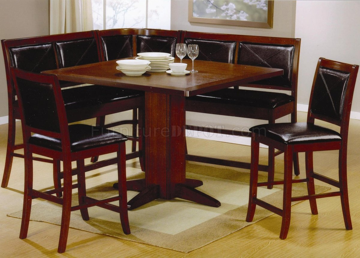 Luxury dark oak dinette depot with dinnete table