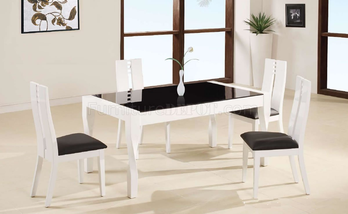 Luxury dinette depot with dining table glass top with sliding door and dining chairs