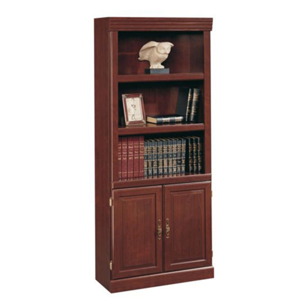 Luxury sauder bookcases with rugs and laminate flooring plus window treatments for Living Room Ideas