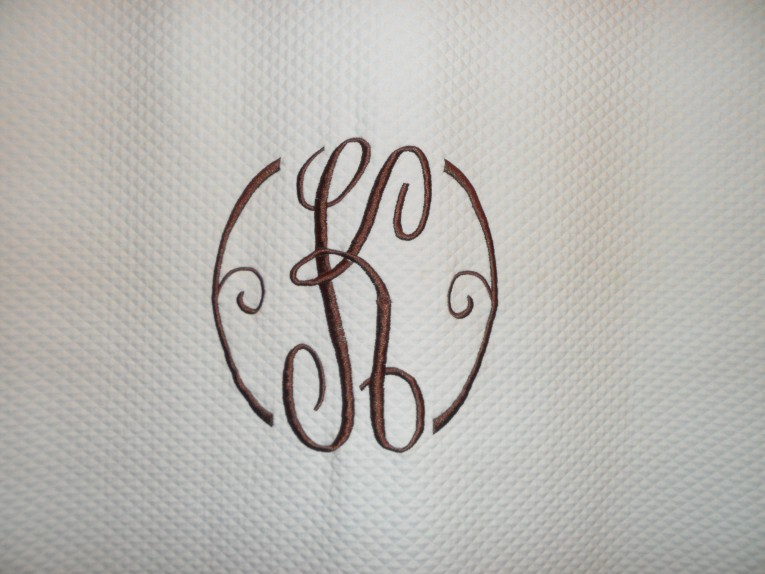 Nice Pattern Monogrammed Shower Curtain With Best Combination Color Design And Pattern Ideas