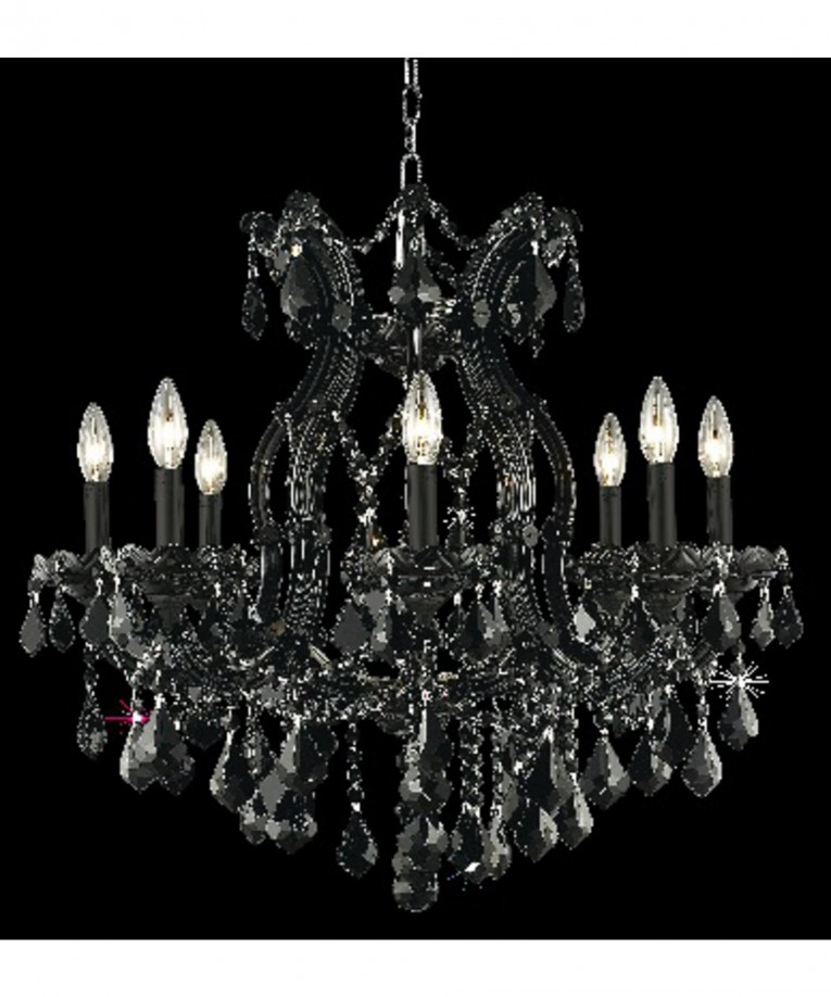 What A Beautiful Black Light Maria Theresa Chandelier