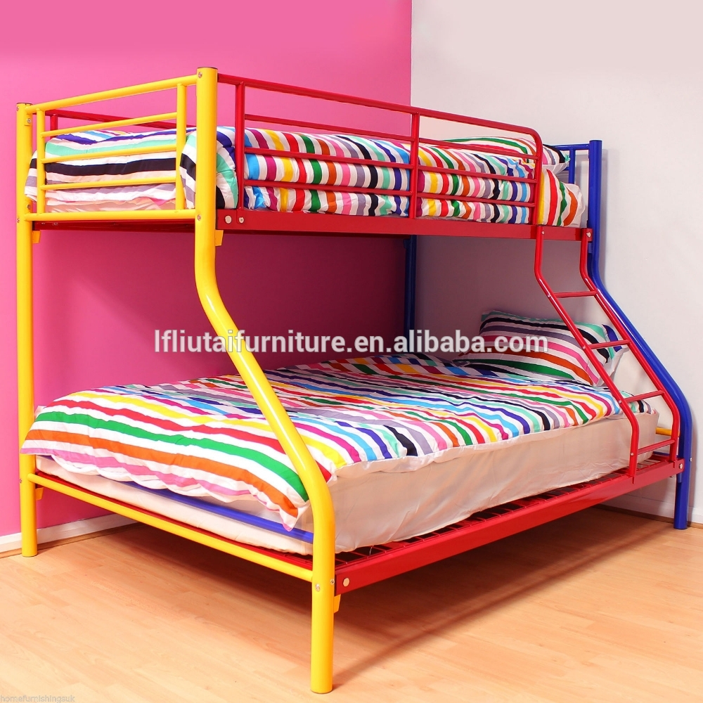 Wonderful cheap bunk beds for kids with area rugs and laminate flooring combined with picture on the wall for kids bed room ideas