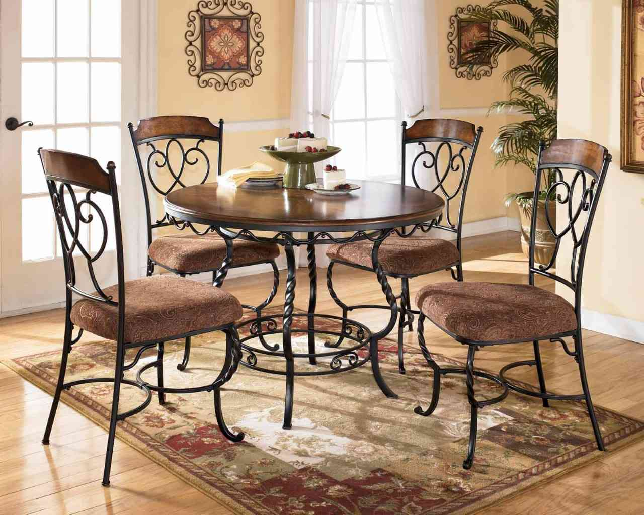 Wondrous round dining table and dining chairs dinette depot plus rugs