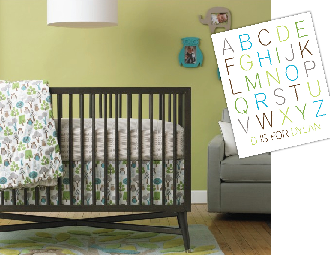 adorable dwellstudio baby crib bedding with beautiful wall decorating