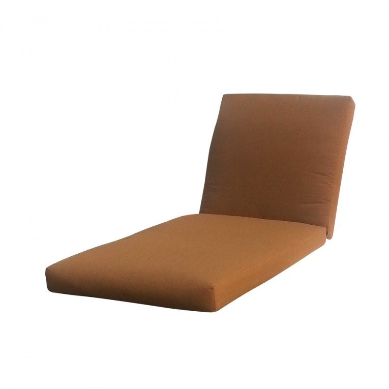 Allen Roth Sunbrella Chaise Lounge Cushions Teak Brown Color