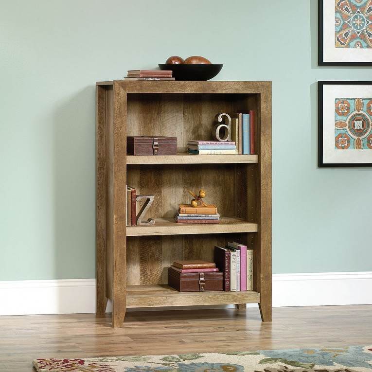 Alluring Sauder Bookcases With Rugs And Laminate Flooring Plus Window Treatments For Living Room Ideas