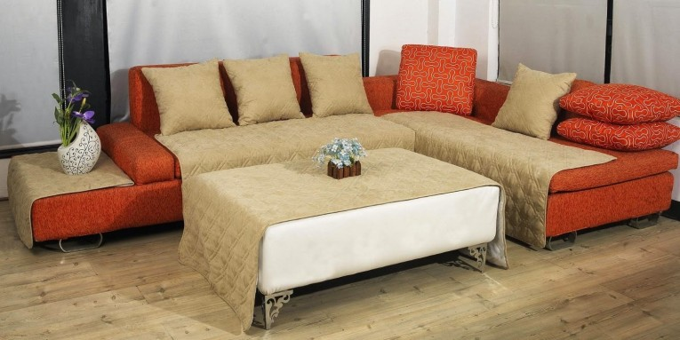 Amazing Orange Sectional Sofa Covers