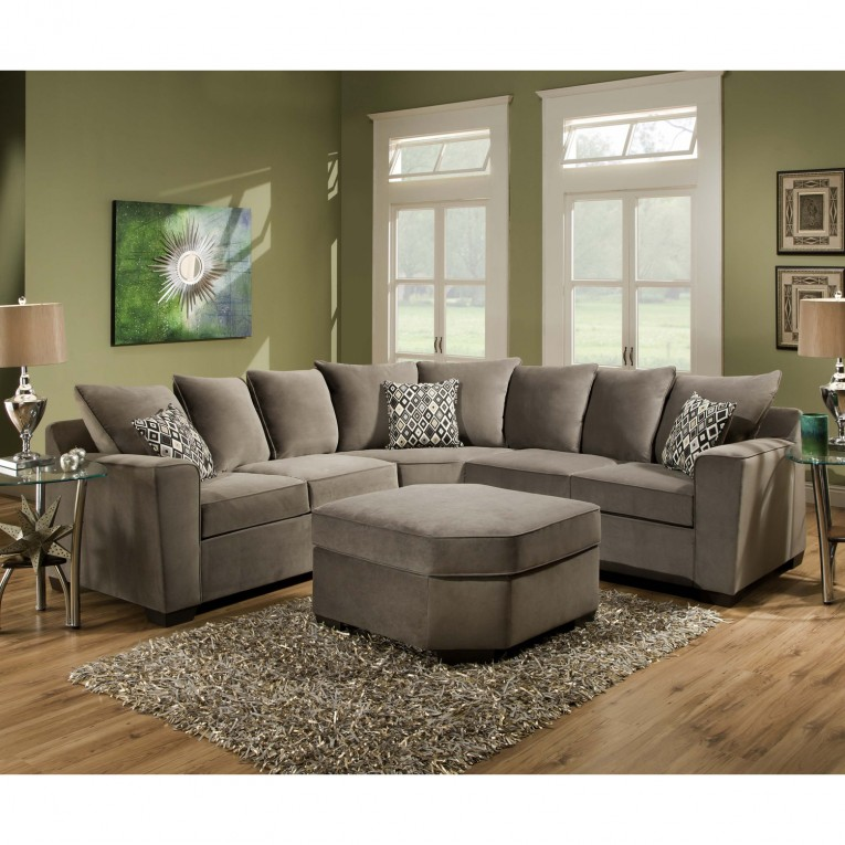 Amazing Sectionals Sofas With Rugs And Cushion