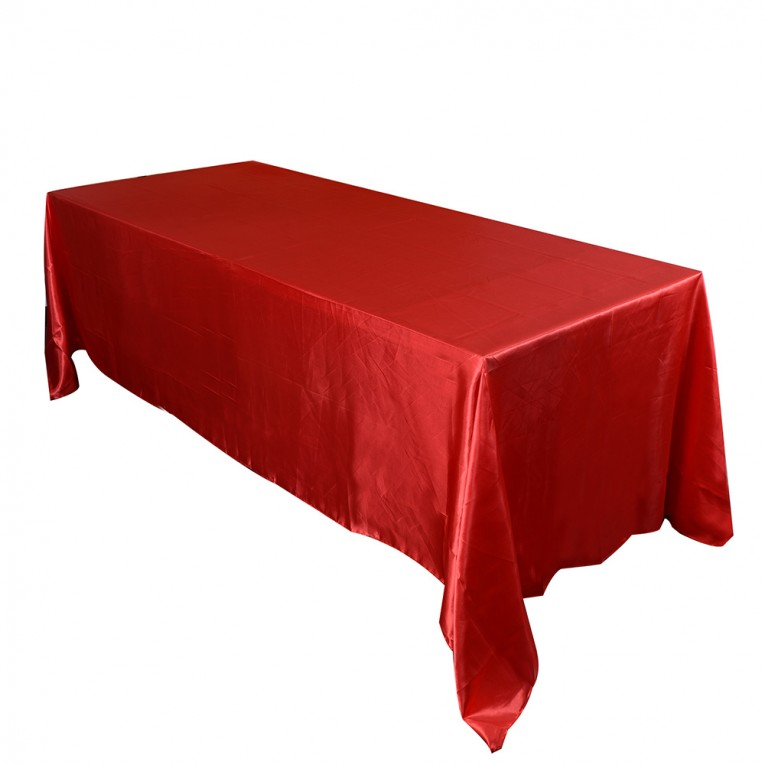 Amusing Red Colors Oblong Tablecloth