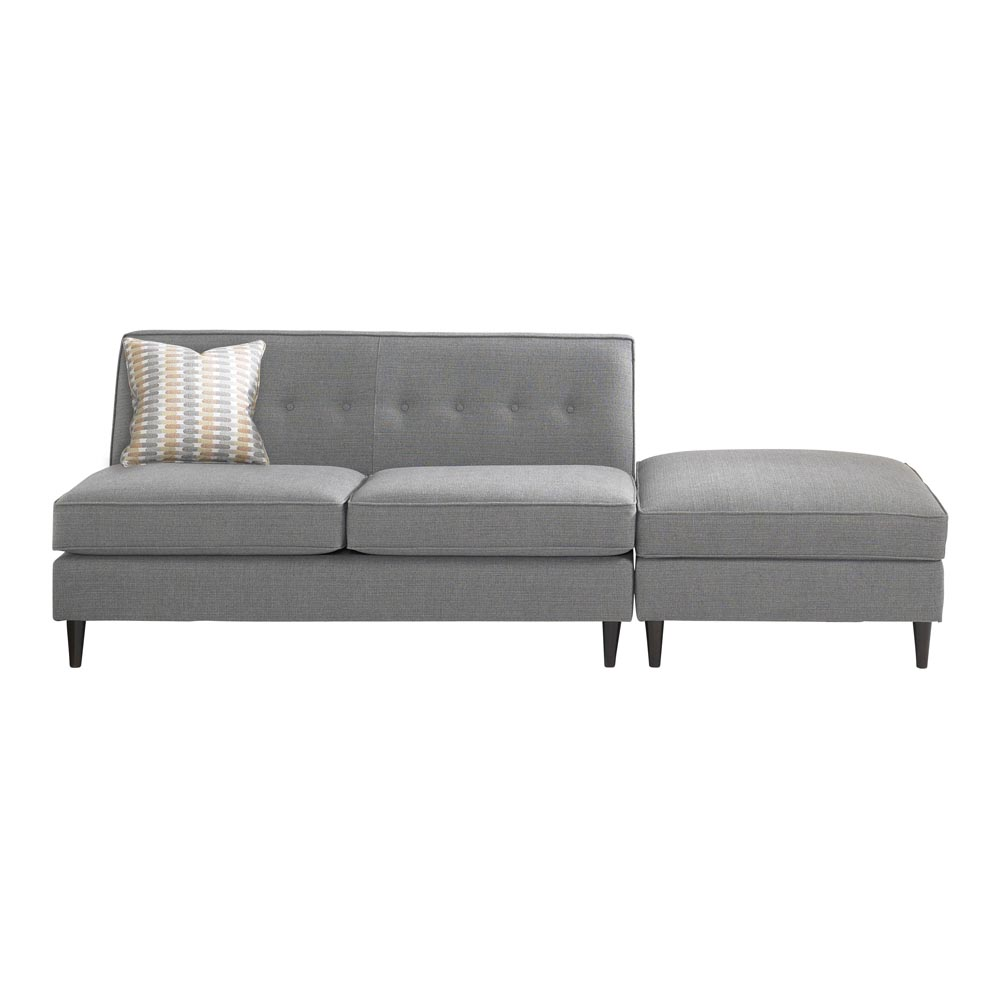 armless settee gray color sofaa modern armless settee idea