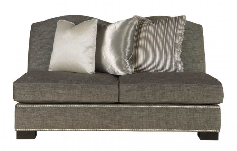 Armless Settee Gray With Cushion