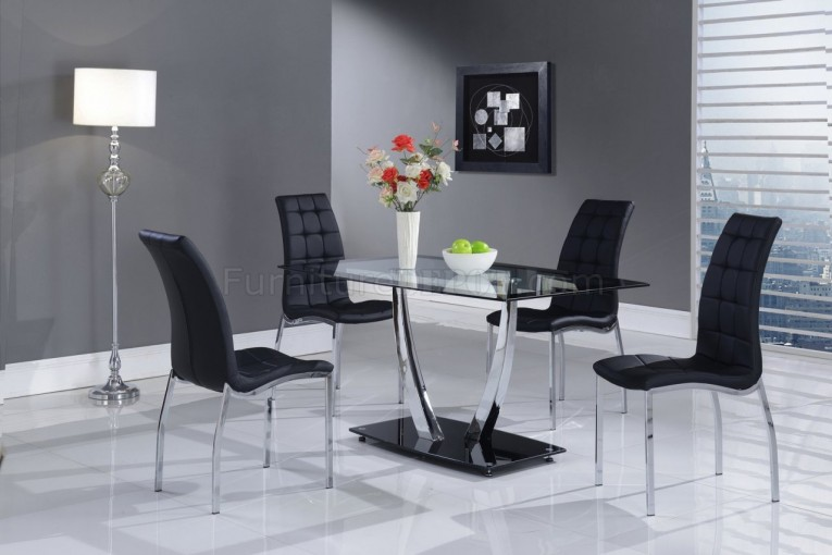 Awesome Dinette Depot With Glass Table And Black Chair