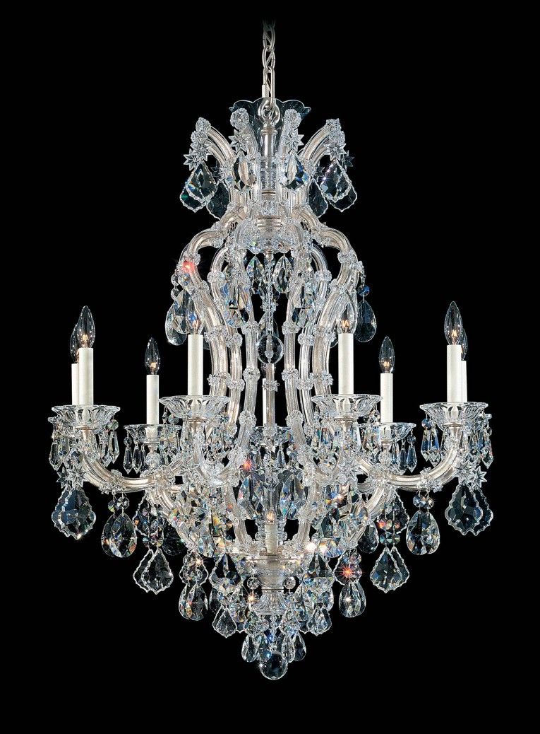 Beautiful 10 Light Crystal Maria Theresa Chandelier