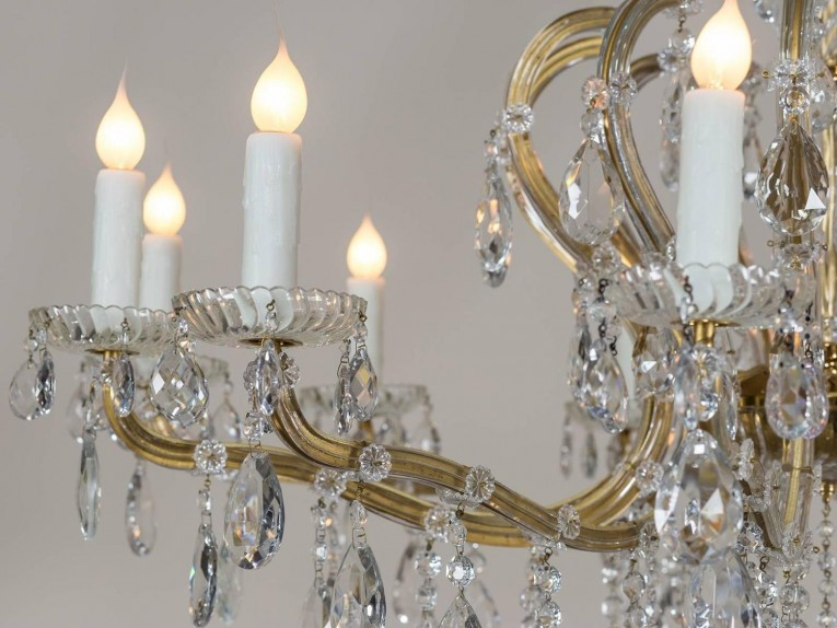 Beautiful Maria Crystal And Maria Theresa Chandelier