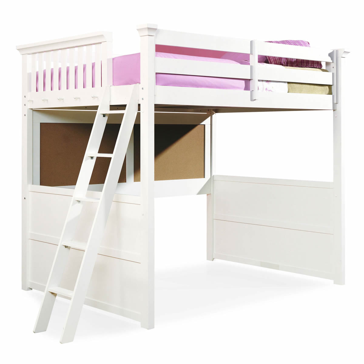 big white cheap loft beds with stairs