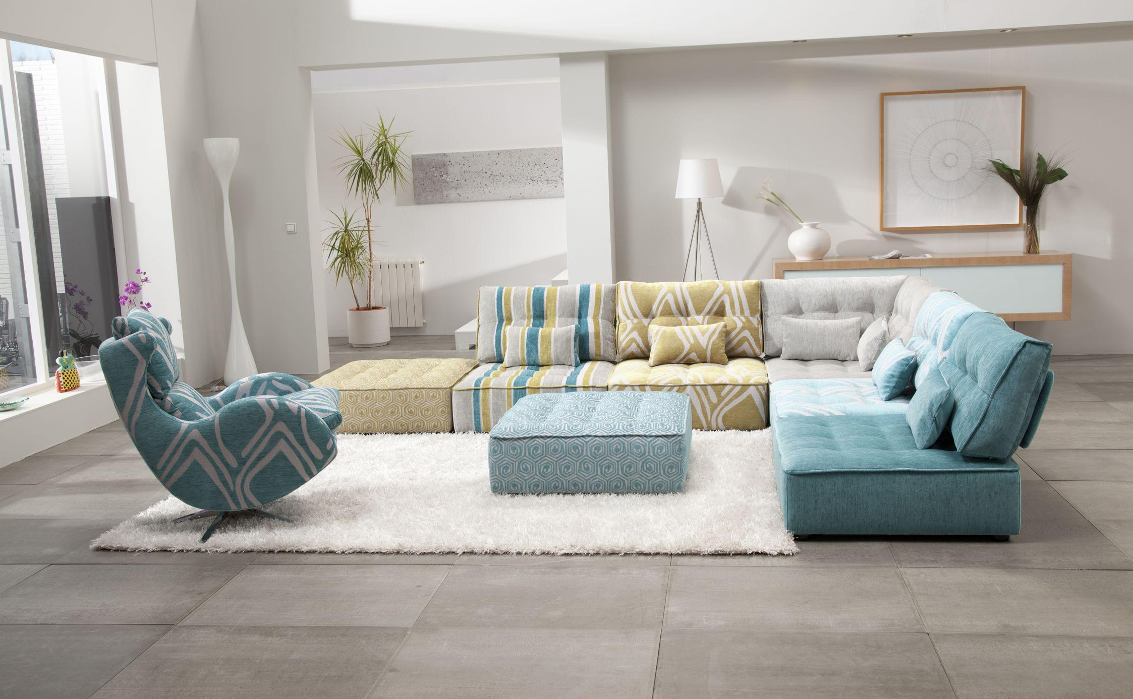 blue ocean sectionals sofas with white area rugs and high lamps