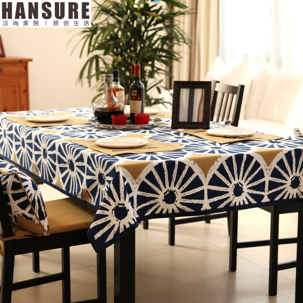 blue skinny sun oblong tablecloth with dining chairs oblong tablecloth