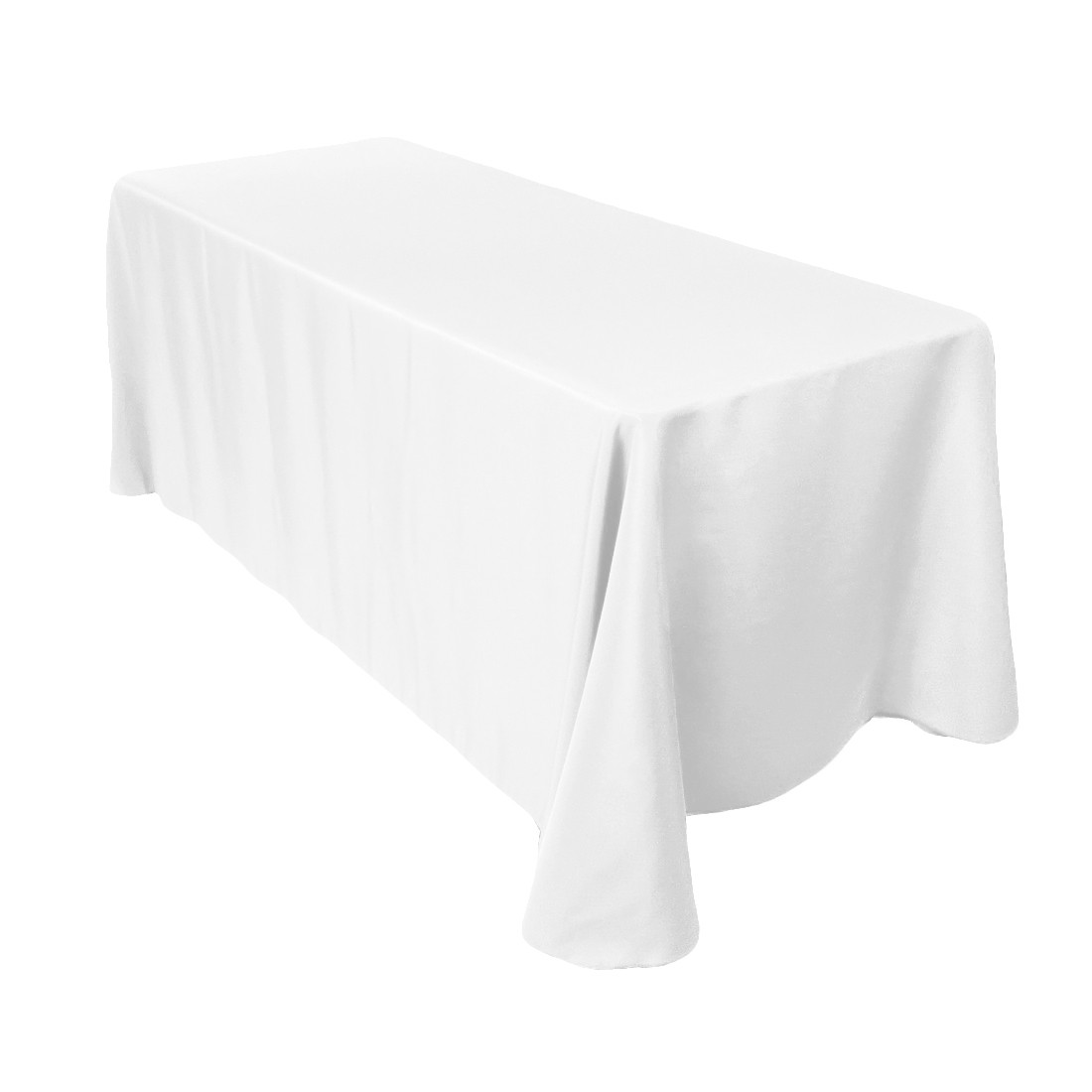 bright white oblong tablecloth for home decor