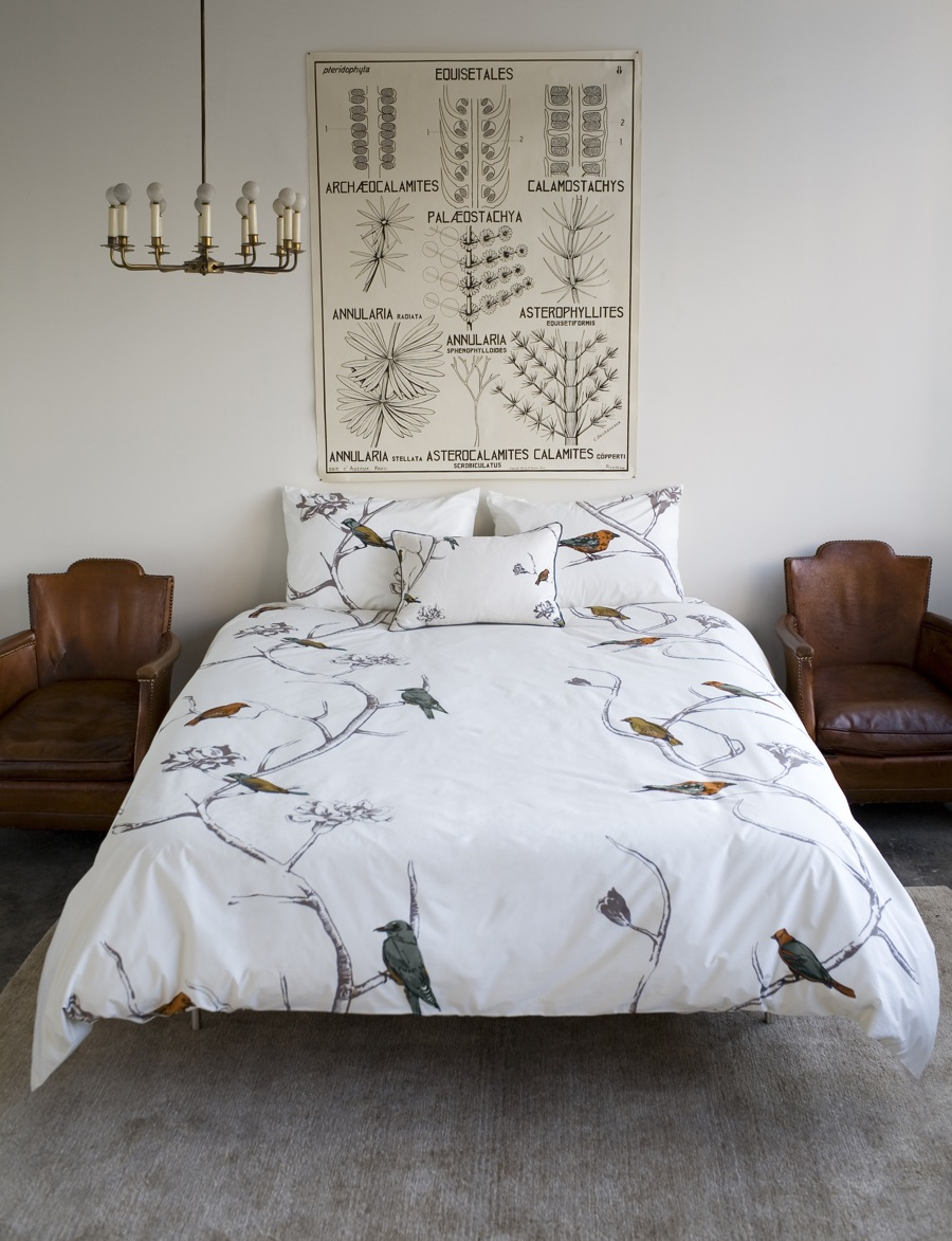 dwellstudio bedroom and ceiling light