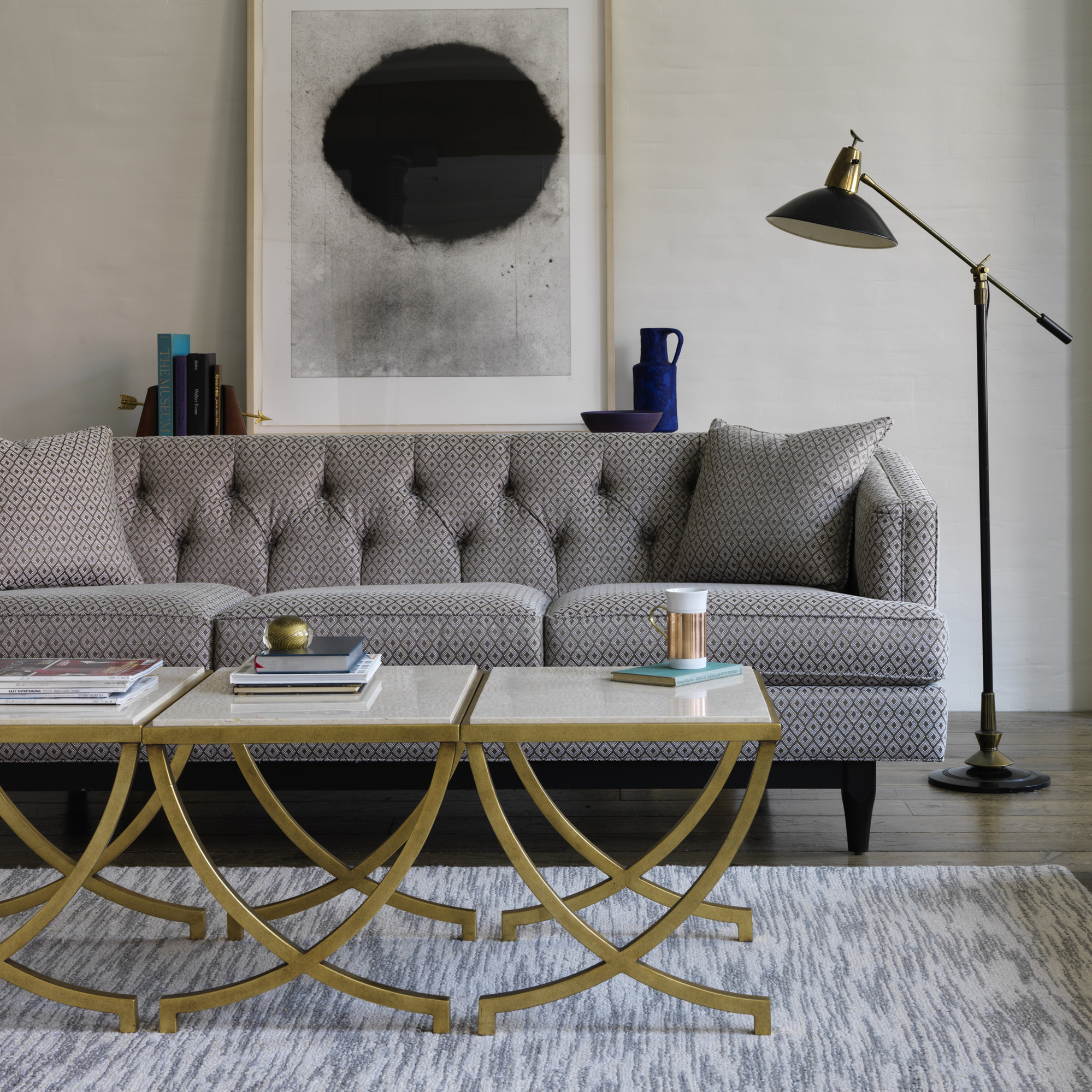 Dwell Studio Furniture. Dwellstudio Withy Picture On The Wall And Long Seat  Plus Coffee Table