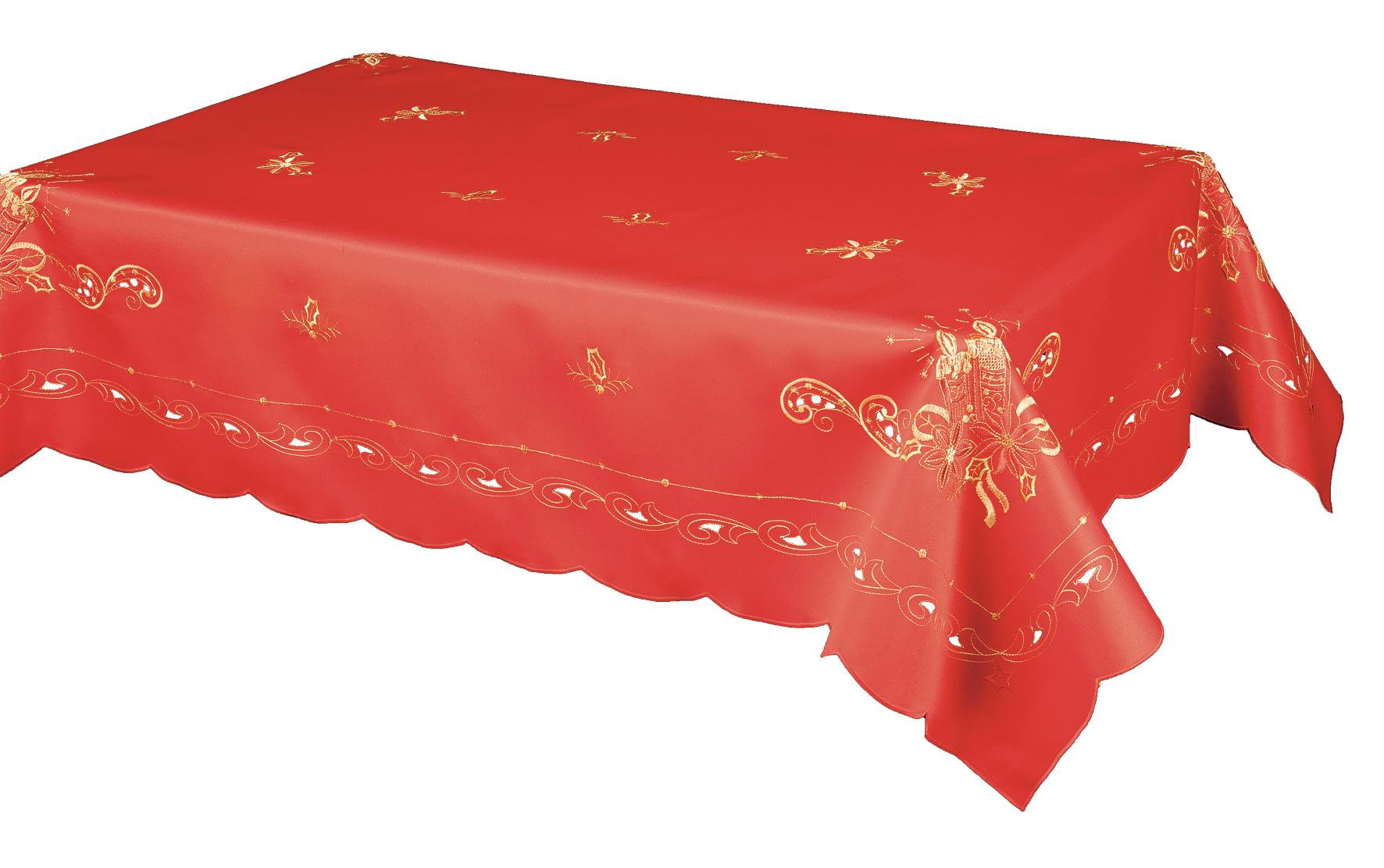elegant red oblong tablecloth