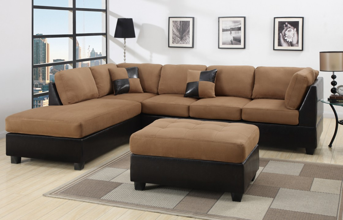 Excellent Bright Tufted Sectionals Sofas