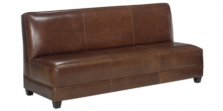 Fabulous Armless Settee Old Classic Brown Sofa