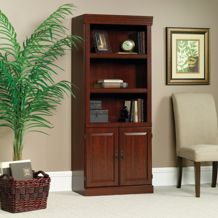 Fabulous Sauder Bookcases With Rugs And Laminate Flooring Plus Window Treatments For Living Room Ideas