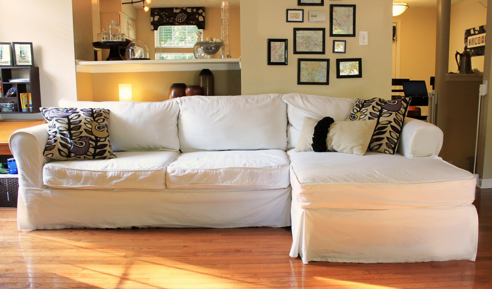 Furniture Exciting Sectional Sofa Covers With Best Colors For  ~ White Slipcovers For Sofa