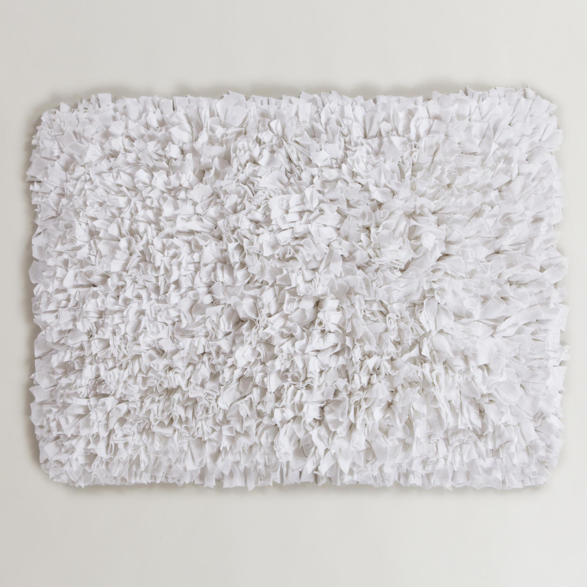 fascinating white bath mat with fluffy comfortable feel ideas