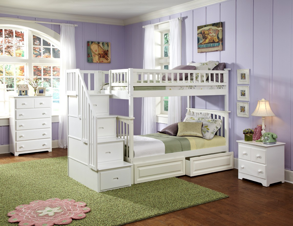 fashionable bed room with cheap loft beds