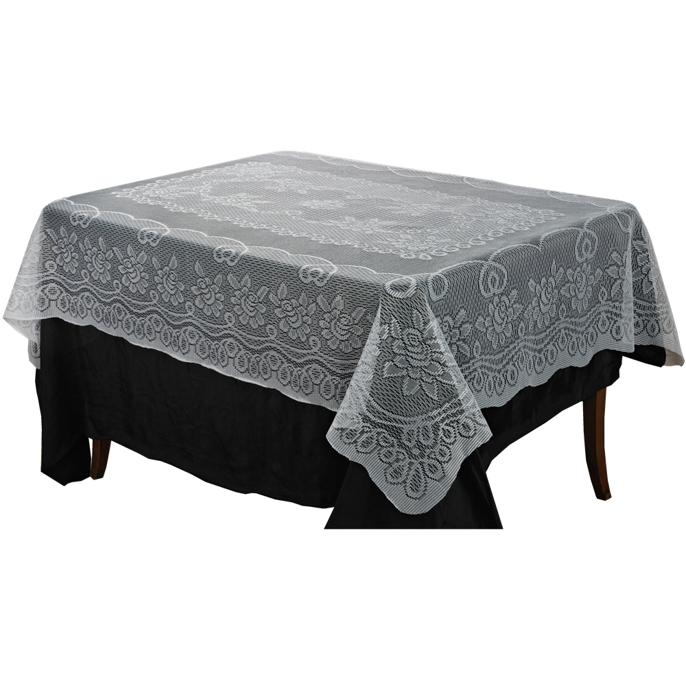 interestin black and white oblong tablecloth