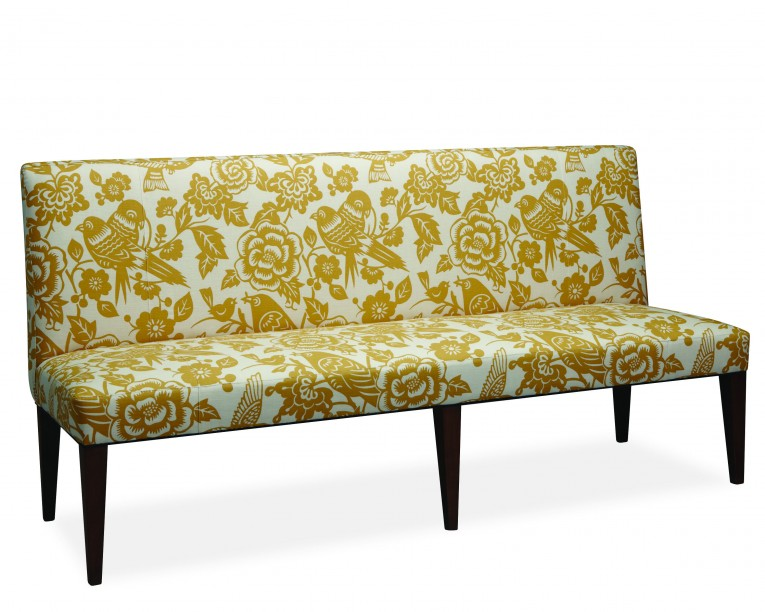 Interesting Armless Settee Yellow Pattern Assorted Colors